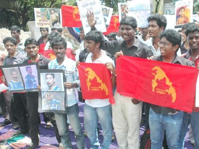 Students-staging-a-demonstration-in-front-of-MA-Chidambaram-Cricket-Stadium-to-protest-against-Sri-Lankan-players-in-IPL-teams-in-Chennai-UNI-photo