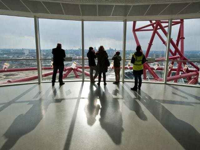 Members-of-the-public-view-the-Queen-Elizabeth-Olympic-Park-formally-the-London-2012-Olympic-Park-from-the-ArcelorMittal-Orbit-on-March-30-2013-Photo-AFP-Will-Oliver