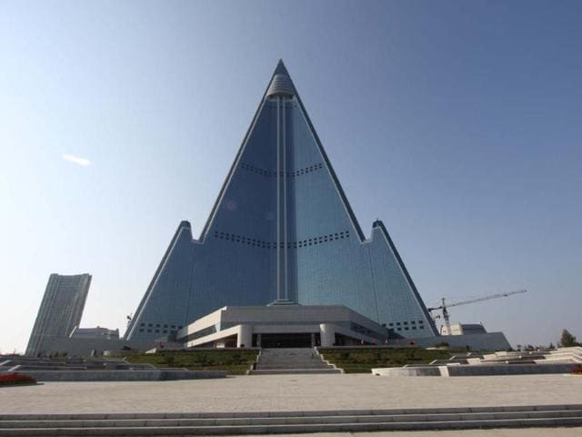 Swiss-luxury-hotel-chain-Kempinski-said-on-Tuesday-that-it-was-dropping-plans-to-open-a-hotel-in-the-pyramid-shaped-structure-Photo-AFP-Koryo-Tours