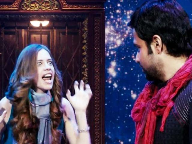 Kalki Koechlin with Emraan Hashmi who plays a magician in Ek Thi Daayan.