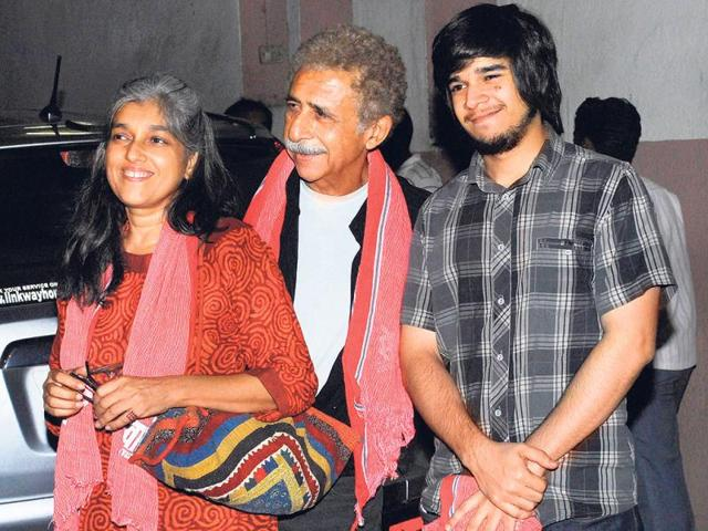 Ratna-Pathak-and-Naseeruddin-Shah-with-younger-son-Vivaan-HT-Photo
