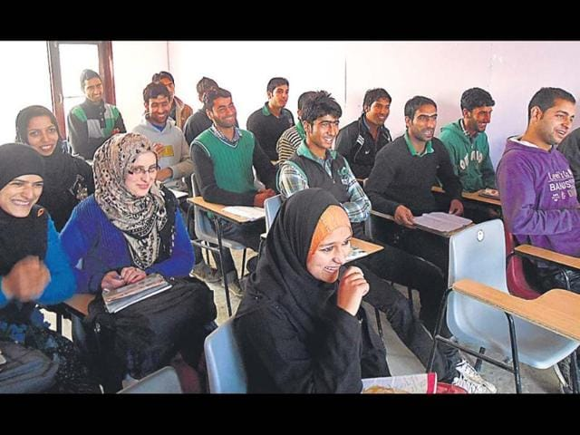 A-class-of-girls-and-boys-ranging-from-school-to-college-drop-outs-receive-training-in-hospitality-retail-sales-etc-at-the-Himayat-Centre-in-Sopore-HT-photo