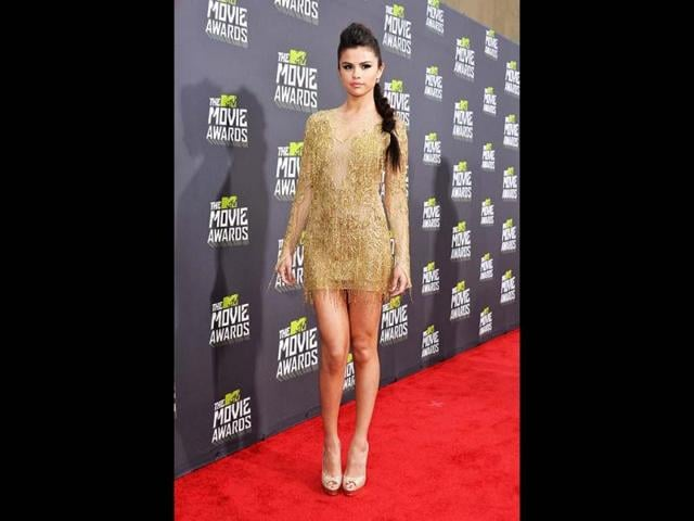 Actress-singer-Selena-Gomez-arrives-at-the-2013-MTV-Movie-Awards-at-Sony-Pictures-Studios-on-April-14-2013-in-Culver-City-California-Getty-Images-AFP