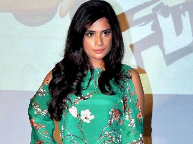 Richa-Chadda-poses-for-photos-at-the-launch-of-first-look-for-Fukrey-AFP-Photo