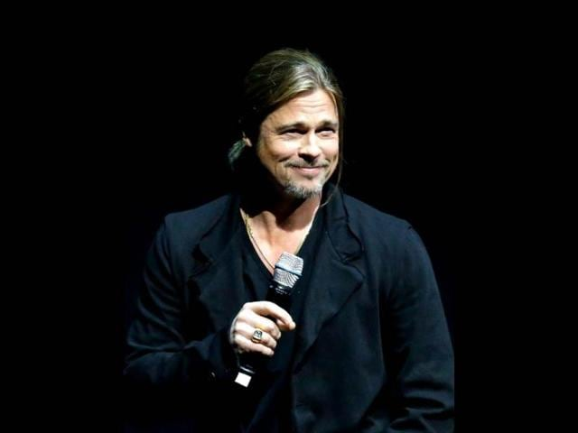 Actor-Brad-Pitt-speaks-at-a-Paramount-Pictures-presentation-to-promote-his-upcoming-film-World-War-Z-during-CinemaCon-at-The-Colosseum-at-Caesars-Palace-in-Las-Vegas-Nevada-AFP