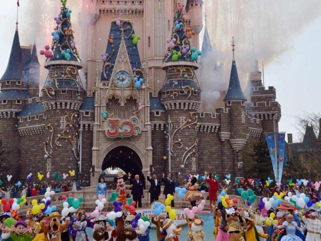 Disney-characters-and-dancers-celebrate-the-30th-anniversary-of-the-Tokyo-Disneyland-during-a-ceremony-at-the-Disney-theme-park-in-Urayasu-suburban-Tokyo-Photo-AFP-Yoshikazu-Tsuno