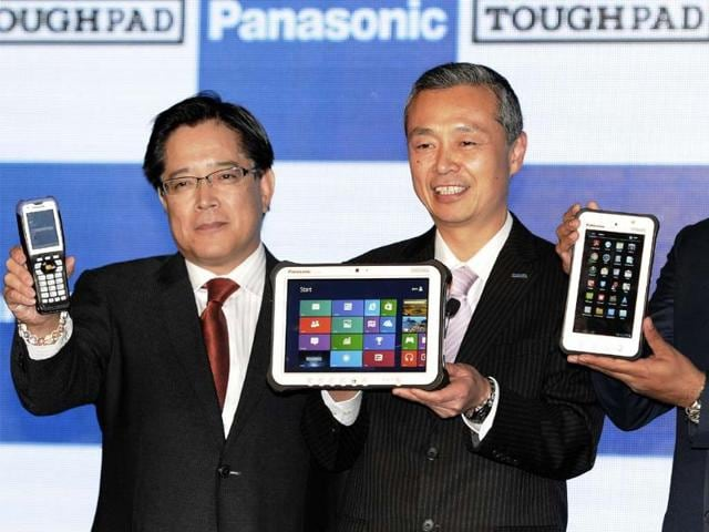 Panasonic-officials-at-the-launch-of-new-mobile-computing-devices-in-New-Delhi-Photo-Sonu-Mehta-Hindustan-Times