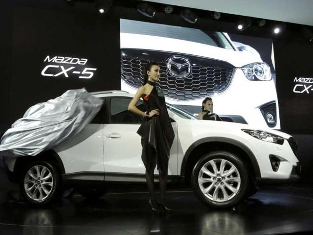 Mazda's new CX-5 is unveiled at the Shanghai International Automobile Industry Exhibition media day in Shanghai, China. AP