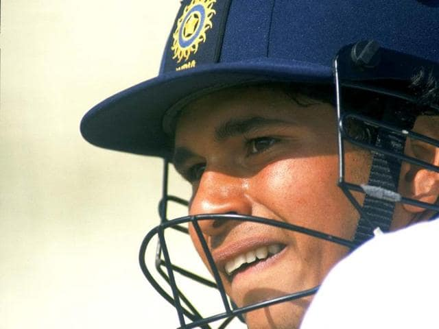 Sachin at the Oval during India