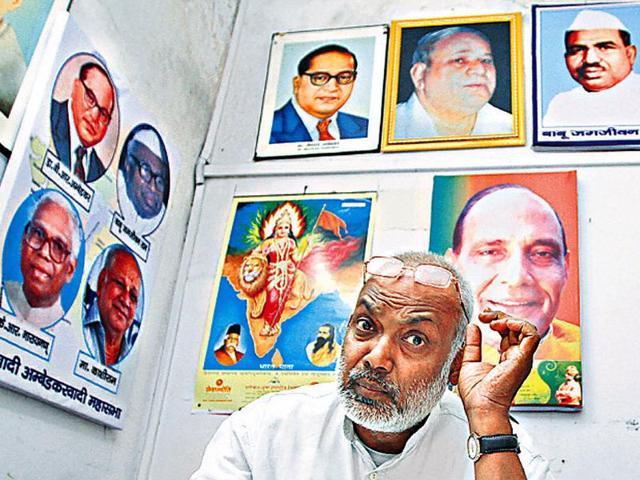 Clockwise-from-top-on-left-wall-portraits-of-BR-Ambedkar-Jagjivan-Ram-Kanshi-Ram-and-KR-Narayanan-in-BJP-leader-Sanjay-Paswan-s-office-Arvind-Yadav-HT-Photo