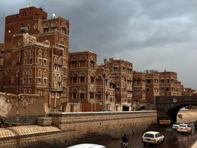 A-picture-shows-the-traditional-architecture-of-the-historical-old-Yemeni-capital-of-Sanaa-that-is-currently-listed-as-one-of-the-world-heritage-sites-by-the-United-Nations-Educational-Scientific-and-Cultural-Organisation-UNESCO-Photo-AFP-Mohammed-Huwais