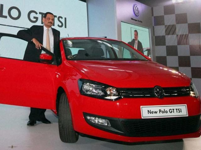 Managing-Director-of-Volkswagen-passenger-cars-Arvind-Saxena-poses-for-media-during-the-launch-of-the-new-Polo-GT-TSI-car-in-Mumbai-on-Monday-Photo-PTI-Santosh-Hirlekar