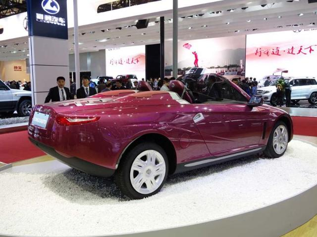 Tongji Auto : The latest concept from the latest crop of design students attending the Tongji colleges of automotive engineering from which the company derives its name. The car is meant as an ideas showcase rather than as a production vehicle and clearly there are a lot of ideas going on here. Photo:AFP