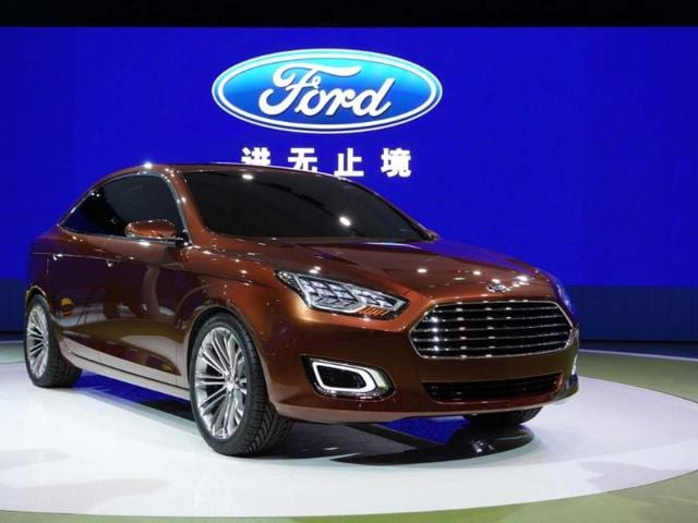 Ford Escort Concept : The original car to carry the Escort badge was one of the most successful in automotive history and in its new guise, as a small family car specifically for the Chinese market, Ford clearly hopes to relive past success. Photo:AFP
