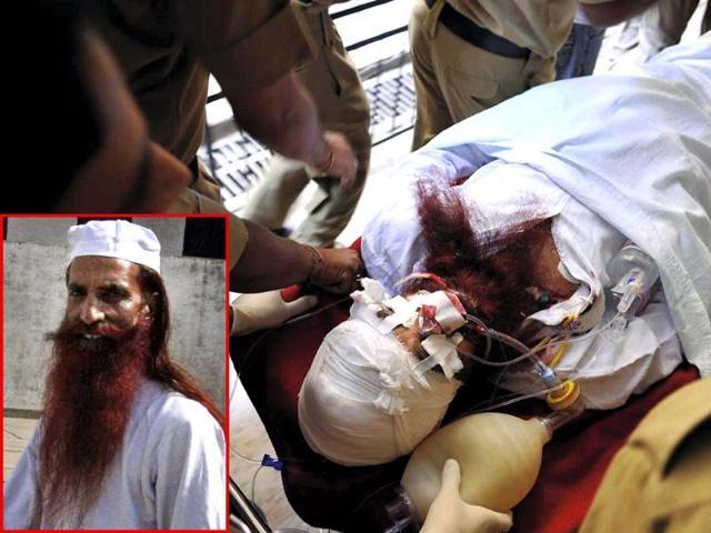 Hurt Pakistani inmate Sanaullah 'sinking'