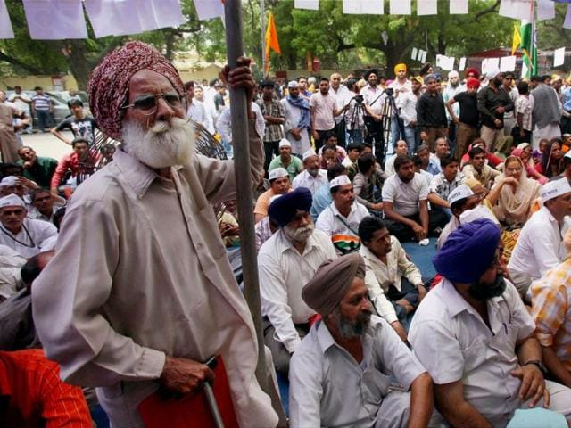 A-Sikh-man-protests-against-the-acquittal-of-Sajjan-Kumar-in-a-1984-anti-Sikh-riots-case-at-Jantar-Mantar-in-New-Delhi-on-Sunday-Shahbaz-Khan-PTI