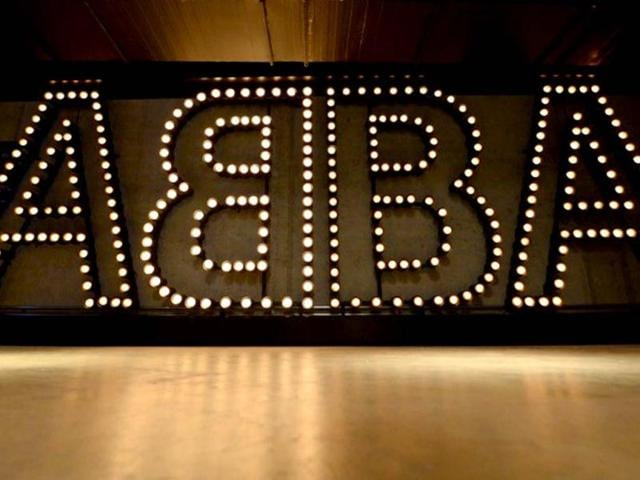 ABBA-s-sign-is-seen-during-the-press-viewing-of-world-s-first-permanent-ABBA-museum-in-Stockholm-AFP-Photo