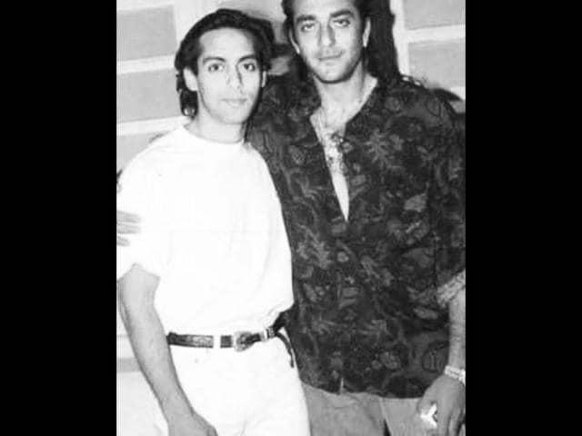 PHOTO: Salman Khan comforting a despondent Sanjay Dutt ...