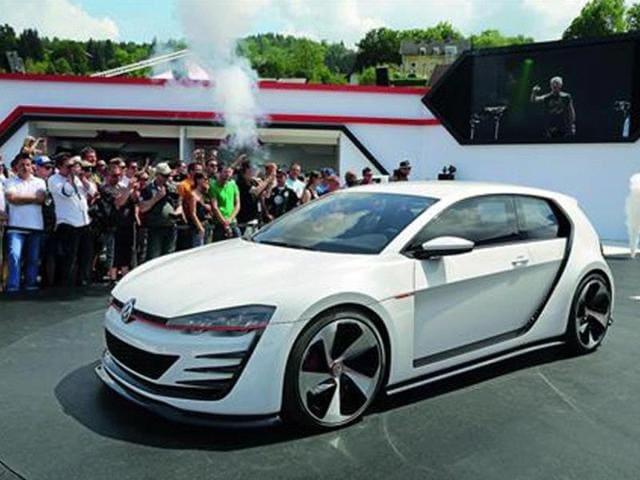 VW unveils new Golf GTI concept,vw,golf