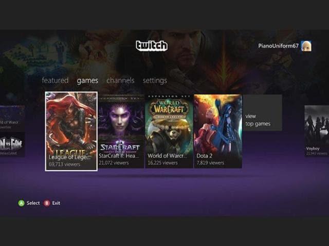 Justin TV,Xbox,Twitch