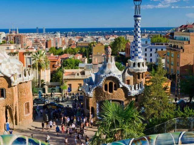 Park Guell,Barcelona,Spain
