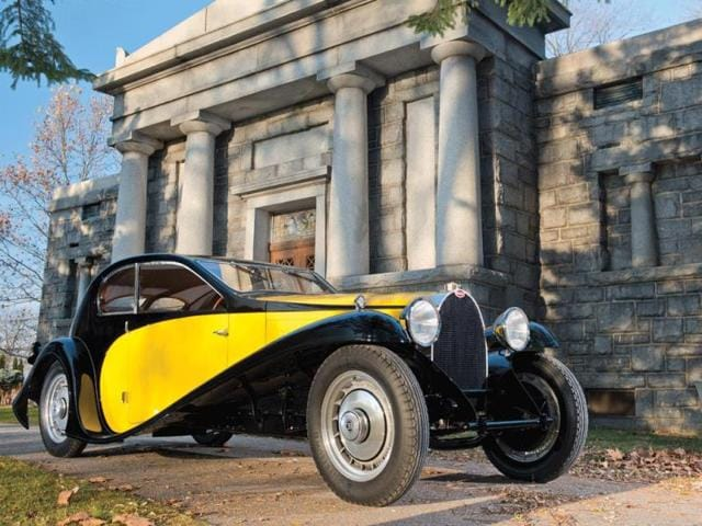 1930 Bugatti Type 46 Coupé Superprofilée in the style of Jean Bugatti : One of the stars of the show, 'The Little Royale' is expected to go for between €840,000 and €1,000,000. Photo:AFP