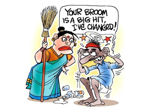 Jayanto-s-illustration-on-anti-alcohol-drive-in-Bihar