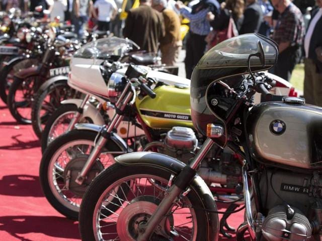 Classic Motorcycles : Since BMW took over the running of the event in 1999, it has introduced prizes for classic motorcycles as well as for the best classic car in show and the best concept or prototype vehicle. Photo:AFP