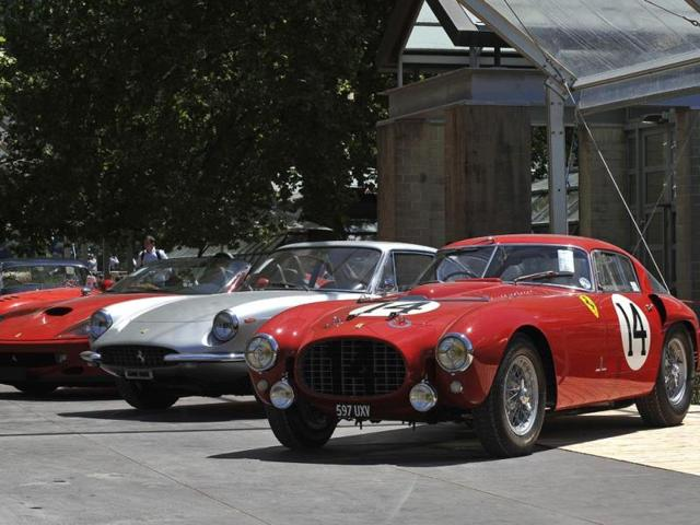 Classic Ferraris : It wouldn't be an Italian classic car show without Ferrari and the cars seen here, including a 1953 Ferrari 340/375 MM Berlinetta 'Competizione' by Pininfarina (right), one of the most significant racing cars in the company's history, later sold at auction for over €9 million. Photo:AFP