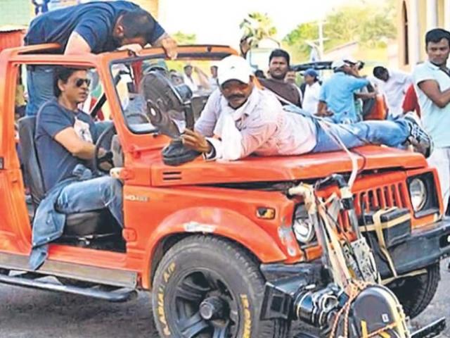 Shah Rukh Khan in an action avatar in Chennai Express
