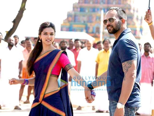 Come along! Deepika Padukone with director Rohit Shetty.
