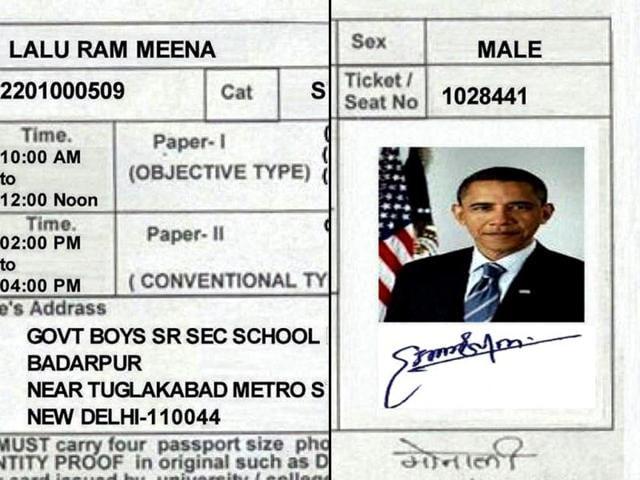 exam admission card goof up,staff selection commission admission card,US President Barack Obama