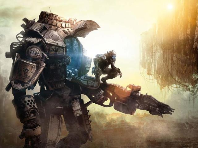 Infantry-and-giant-mechanical-suits-combine-in-Titanfall-Photo-AFP