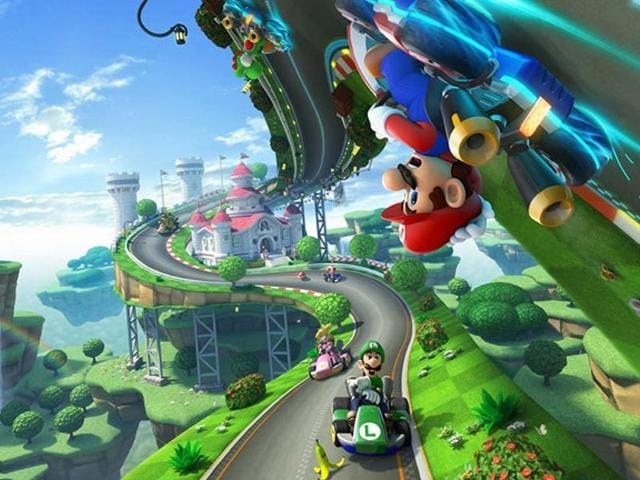 Things-start-to-get-a-bit-loopy-in-Mario-Kart-8-Photo-AFP
