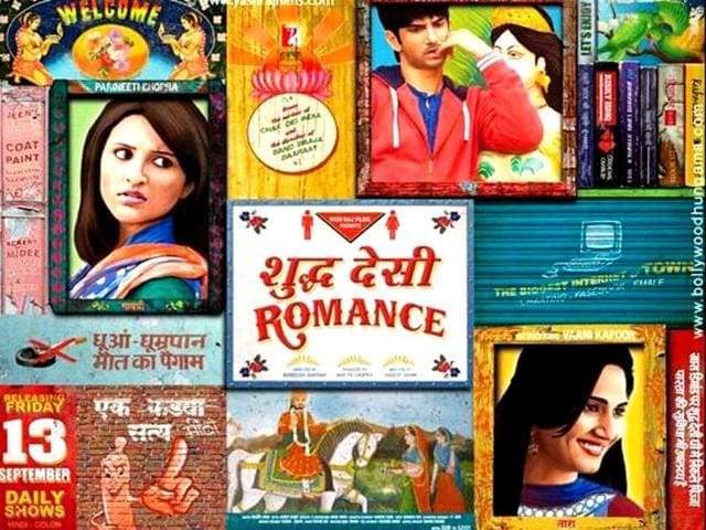 Parineeti-Chopra-Sushant-Singh-Rajput-and-Vaani-Sharma-in-Shuddh-Desi-Romance
