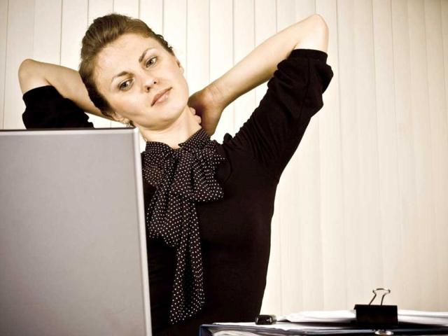 A-woman-stretching-at-work-Photo-courtesy-Thinkstock