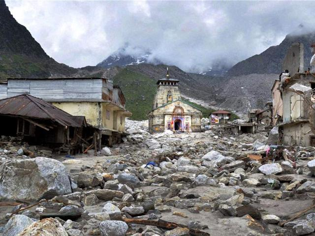The-Kedarnath-Temple-is-pictured-amid-damaged-surroundings-by-flood-waters-at-Rudraprayag-in-the-Himalayan-state-of-Uttarakhand
