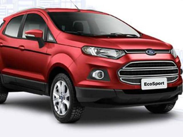 ford ecosport launched at rs lakh autos hindustan times. Black Bedroom Furniture Sets. Home Design Ideas
