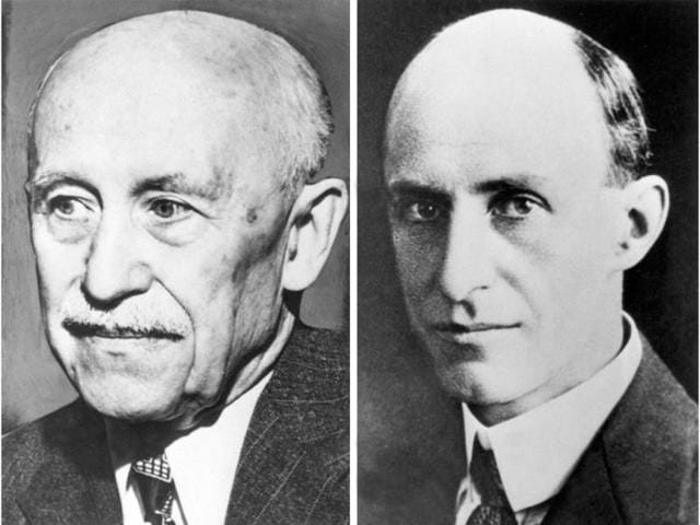 Pictures-combo-dated-from-the-10-s-of-the-Wright-brothers-Orville-L-and-Wilbur-Aviation-pioneers-it-is-said-they-were-the-first-to-fly-successfuly-in-a-heavier-than-air-machine-on-17-December-1903-in-Kitty-Hawk-in-a-flight-of-70-metres-AFP