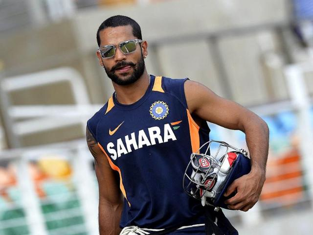 Shikhar-Dhawan-during-a-practice-session-at-the-Sabina-Park-stadium-in-Kingston-AFP