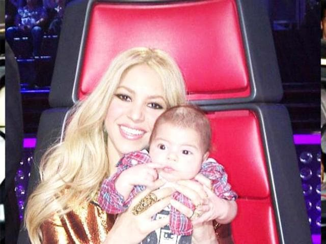 Shakira and baby Milan make a public appearance. Not so camera shy?
