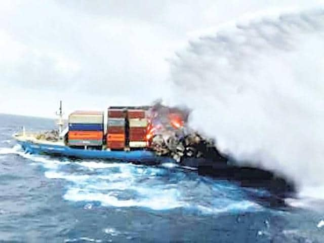 The-Coast-Guard-uses-water-cannons-to-douse-the-fire-which-broke-out-on-the-vessel-on-Saturday