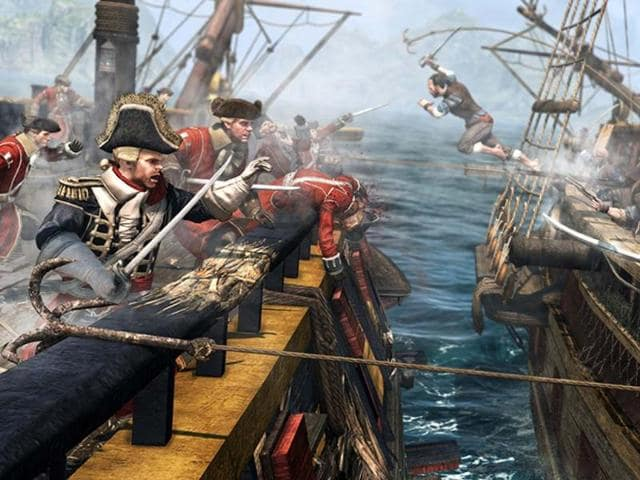 Assassin's Creed IV,Edward Kenway,Caribbean warships
