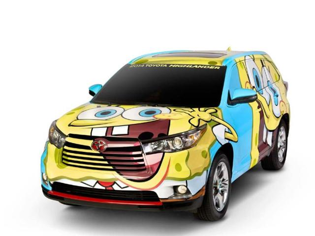 Unique-edition-of-the-2014-SpongeBob-Toyota-Highlander-Photo-AFP