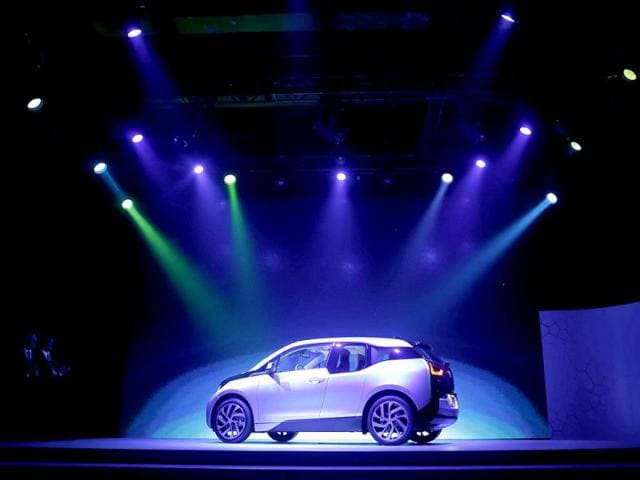 BMW's first all-electric car, i3, is unveiled at a ceremony in Beijing. Reuters photo