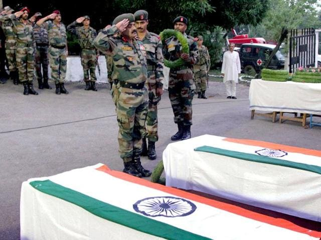 Indian soldiers killing