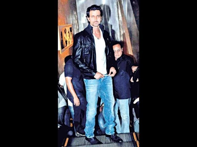 Hrithik Roshan at the trailer launch.