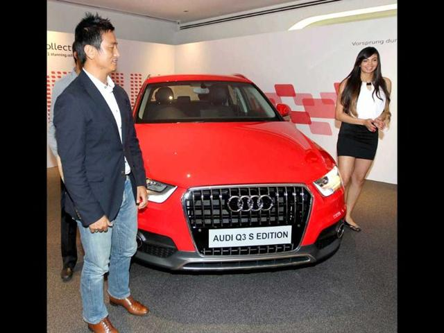 Bhaichung-Bhutia-and-Sharmila-Nicollet-at-the-launch-Audi-Q3-S-edition-in-New-Delhi-PTI-Photo
