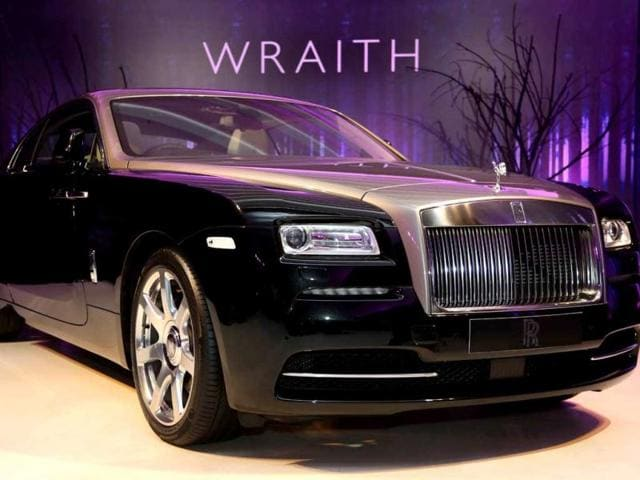 Herfried-Hasenoehrl-general-manager-emerging-markets-in-Asia-Rolls-Royce-right-and-Yadur-Kapur-director-Rolls-Royce-India-at-the-launch-of-the-Wraith-in-New-Delhi-Photo-HT