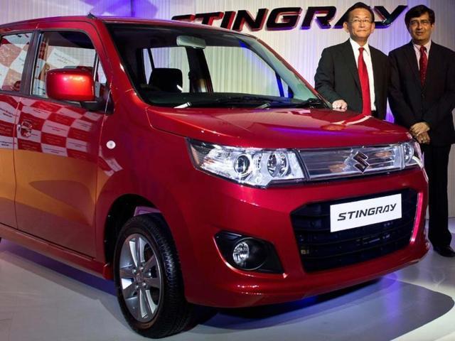 Maruti-Suzuki-unveiled-the-new-998cc-three-cylinder-powered-Stingray-Photo-AFP-Manan-Vatsyayana